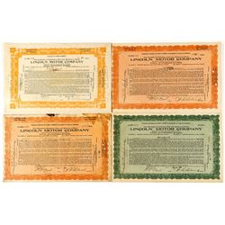 Lincoln Motor Company Stock Certificates