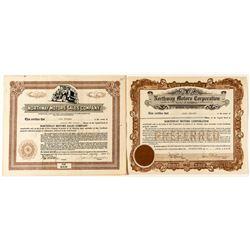 Northway Motors Corporation Stock Certificates