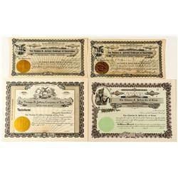 Thomas B. Jeffrey Motor Company Stock Certificates