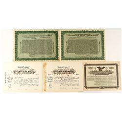 Truck Company Stock Certificates