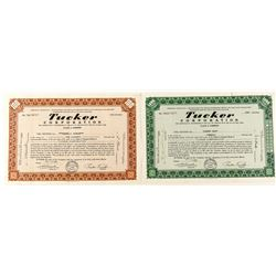 Tucker Corporation Stock Certificates