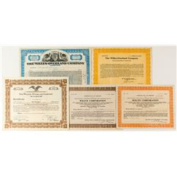 Willys-Overland Motor Company Stock Certificates