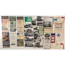 U. S., Canadian and British Bus Ephemera (Covers, Photos, Timetables)