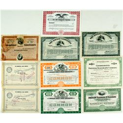 Cable & Telegraph Stock Certificate Group