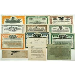 Phonograph Stock Certificates Group
