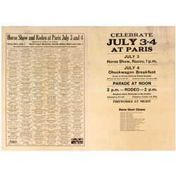 Idaho Horse Show and Rodeo Broadside