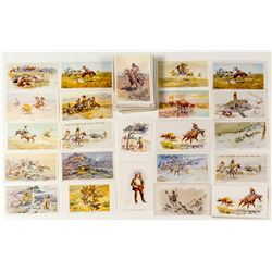 Western Artist Charles Russell Postcard Collection