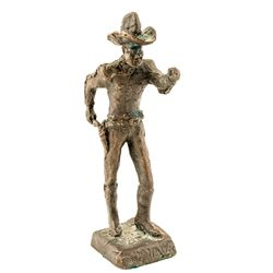 Bronze Sculpture of a Cowboy by Cowboy Lyle Hardin