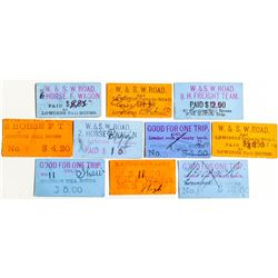 Weaverville & Shasta Toll Road Tickets