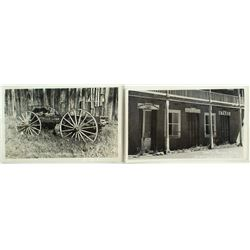 Two Sierra City B/W Stagecoach Postcards