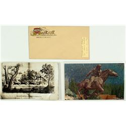 Two Stagecoach Postcards and an Overland Stage Cover