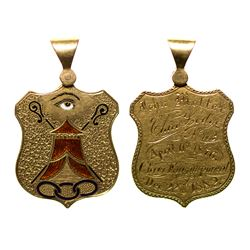 Choice Oddfellows officer gold pendant