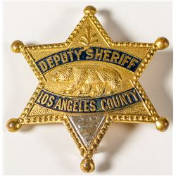 Gold-platted Brass Deputy Sheriff, Los Angeles County Badge