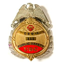 Large USC Public Safety Badge