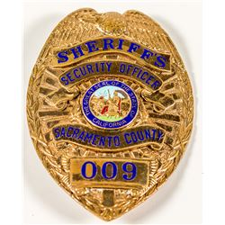 Gold Sheriff's Security Officer Badge