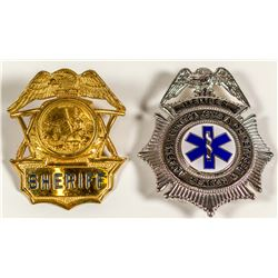 Two California Badges (Sheriff and Search & Rescue)