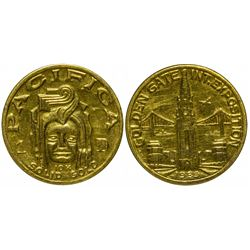 Golden Gate Exposition Gold So-Called Dollar (HK-488) in presentation box