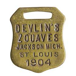Devlin's Zouaves Medal (St. Luis Fair 1904)