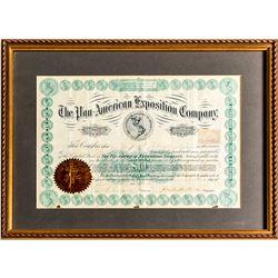 Pan-American Expo. Stock Certificate