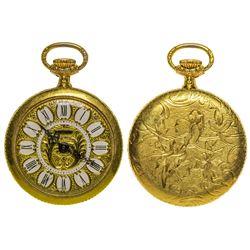 Gold Ladies Pendant Watch