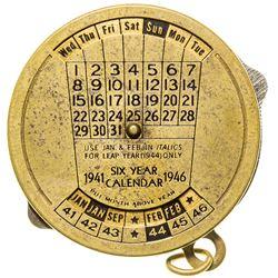Mechanical Six Year Calendar