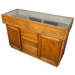 Large Counter Top Glass Case with Drawers