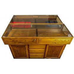 Large Oak Display Case