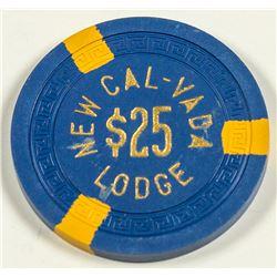 $25 Gaming Chip, New Cal-Vada Lodge, Lake Tahoe