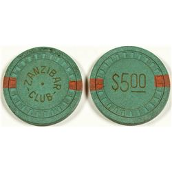 Two $5 Gaming Chips, Zanzibar Club, North Las Vegas