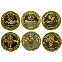 Rare Fitzgerald $40 Silver/Gold Gaming Tokens