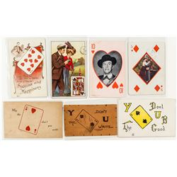 Gaming Postcards featuring Single Playing Cards