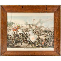 Fort Sanders Civil War Battle Lithograph