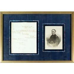 David Farragut Signed Naval Order (Civil War Hero)