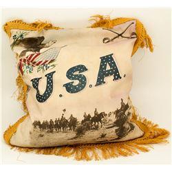 Spanish American War Photo on Pillow