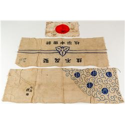 Japanese WW II Collection (Head Wraps and Flag)