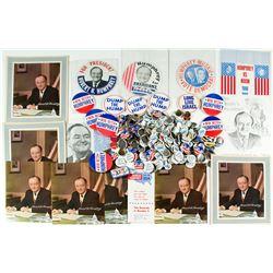 Hubert Humphrey For President Buttons