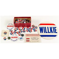 Willkie Presidential Campaign Button Collection