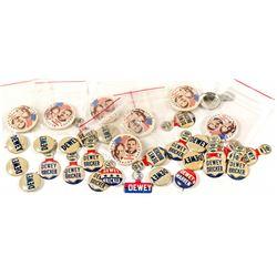 Dewey/Bricker Presidential Buttons