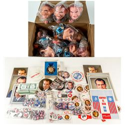 Richard Nixon Campaign Buttons and Other Material