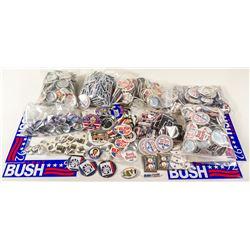 George H. Bush Campaign Button Collection