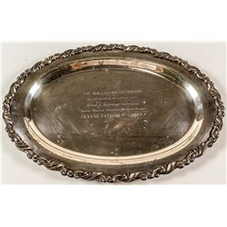 Outstanding Student Award Silver Plate Tray