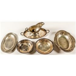 6 Piece Silver Plate Serving Set
