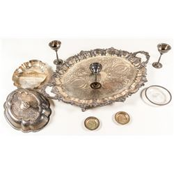 8 Piece Silver Plate Tableware Set