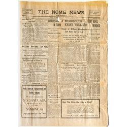 The Nome News Newspaper (Alaska Gold Rush Era)