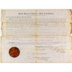 1866 Declaration of Sale of Swamp Land