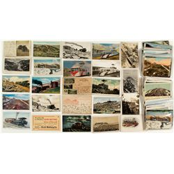Pikes Peak, CO Mountain and Train Postcards