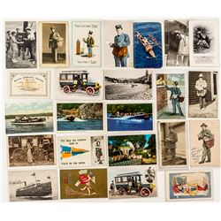 Postcards Featuring Post Office Mail Carriers & Vehicles
