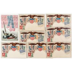 Stamps of the United States on Postcards