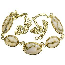Gold in Quartz Necklace