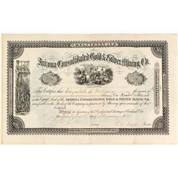 Arizona Consolidated Gold & Silver Mining Co. Stock Certificate